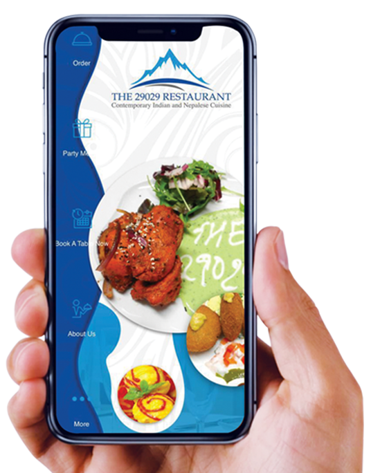 App Mobile View - The 29029 Restaurant - Indian Restaurant in Poole Broadstone